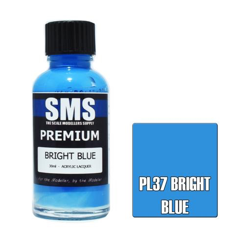 Paint SMS Premium Acrylic Lacquer BRIGHT BLUE FS15187 30ml