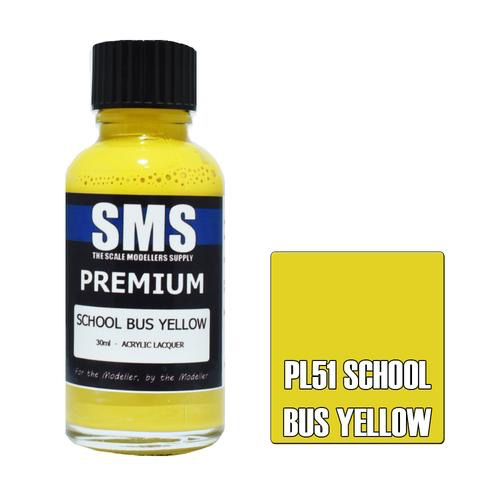 Paint SMS Premium Acrylic Lacquer SCHOOL BUS YELLOW 30ml