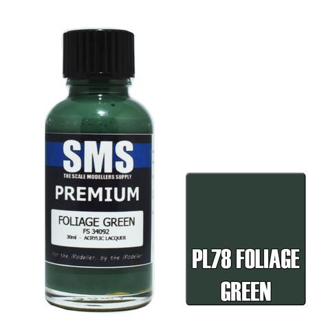 Paint SMS Premium Acrylic Lacquer FOLIAGE GREEN FS34092 30ml