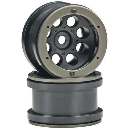 Parts AXIAL  2.2 8-Hole Beadlock Black