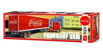 Plastic Kits AMT (f)  1/25 Scale -  Fruehauf Beaded Van Semi Trailer (Coca-Cola) Plastic Model Kit