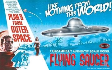 Plastic Kits POLAR LIGHTS (f) 1/48 Scale -  Plan 9 From Outer Space Flying Saucer Plastic Model Kit