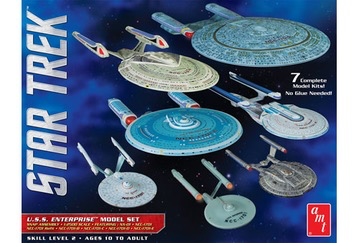 Plastic Kits AMT (f) 1/12500 Scale - Star Trek U.S.S. Enterprise Box Set (Snap)