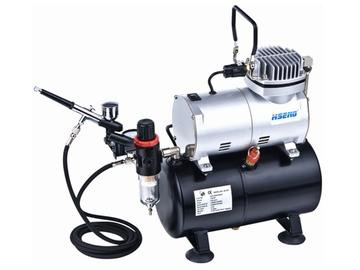 General HS Air Compressor W/Fan & Tank. Includes Hose & HS-80 Airbrush