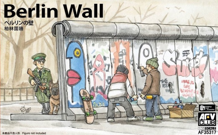 Plastic Kits AFV Club (f)  Berlin Wall (3 units Wall Set) Plastic Model Kit