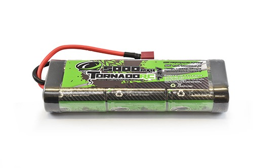 Battery NiMh TORNADO RC 5000Mah 7.2V Nimh Stickpack Deans Connector