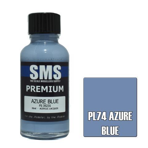 Paint SMS Premium Acrylic Lacquer AZURE BLUE FS35231 30ml
