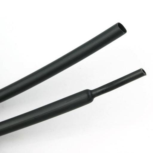 General Electus 5mm x 1.2m Black Heatshrink Tubing.