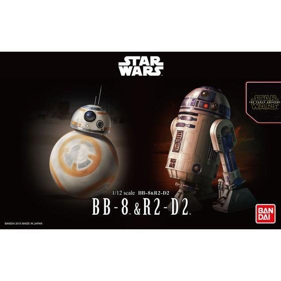 Plastic Kits Bandai Star Wars 1/12 BB-8 & R2-D2