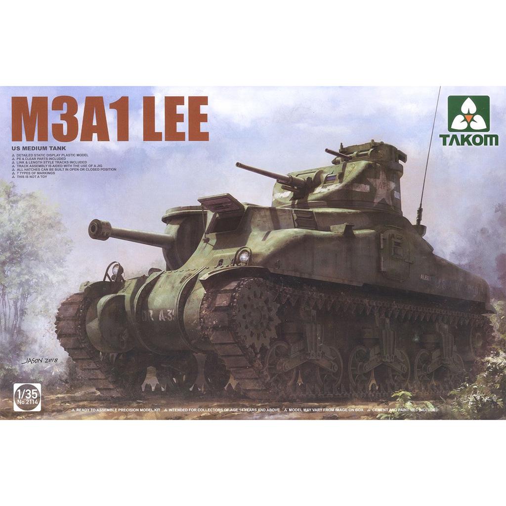 Books Takom 1/35 US Medium Tank M3A1 LEE