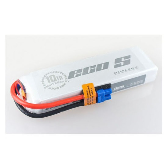 Battery LiPo Dualsky ECO-S LiPo Battery, 4000mAh 3S 25C w/EC3