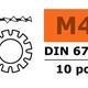 General Gforce Locking washer, M4, Galvanized Steel (10pcs)