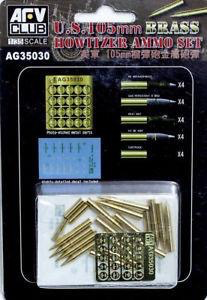 Plastic Kits AFV Club (f) 1/35 Scale - U.S.105mm Howitzer Ammo Set Plastic Model Kit