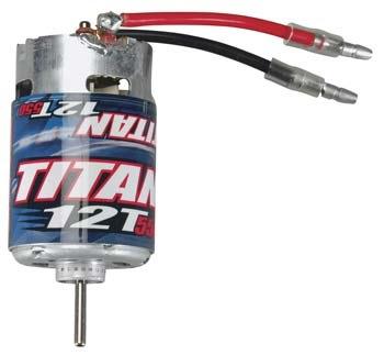Motor Brushed Traxxas Motor, Titan 12T (12-Turn, 550 size) suit Rustler/Stampede
