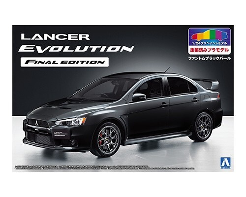 Plastic Kits Aoshima 1/24 Lancer Evolution X Final Ed. Black
