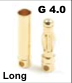 General Gforce 4mm Gold Connector, Long Male + Female (3 pairs)