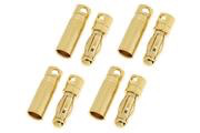 General Gforce 4mm Gold Connector, Short Male + Female (4pairs)