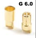 General Gforce 6mm Gold Connector, Male + Female (4pairs)