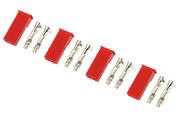 General Gforce BEC connector with gold plated pins, Male (4pcs)