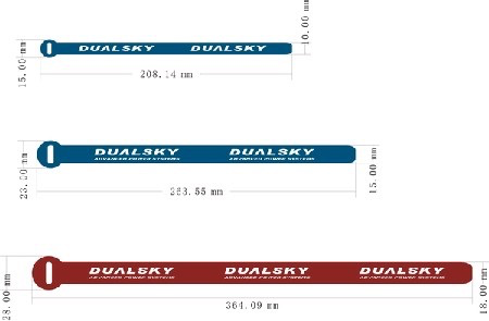 General Dualsky Battery Straps, Medium, 5 pce, L=263mm