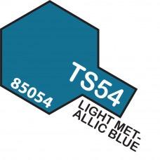 Paint Tamiya Color Spray for Plastics TS-54 Light Metallic Blue. 100ml Spray Can