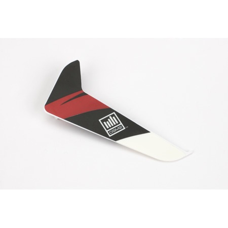 Heli Elect Parts Blade Vertical Fin w/Red Decal: 120SR