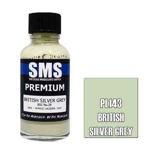 Paint SMS Premium Acrylic Lacquer BRITISH SILVER GREY BSC NO.28 30ml