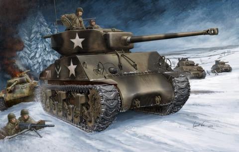 Plastic Kits HOBBYBOSS 1:48 U.S M4A3 Tank (76W)*