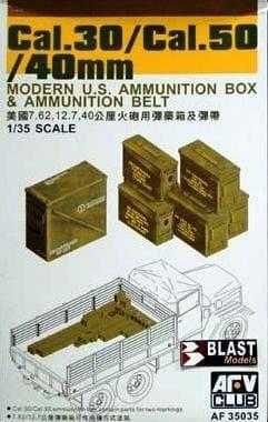 Plastic Kits AFV Club (e)  1/35 Scale -  40mm/Cal.30/Cal.50mm Ammo Box  Plastic Model Kit