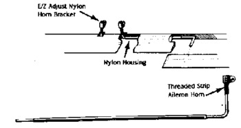 General Dubro Aileron Horn Set Heavy Duty E/Z
