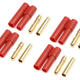 General Gforce 4mm Gold Connector, w/Plastic Housing (4pc)