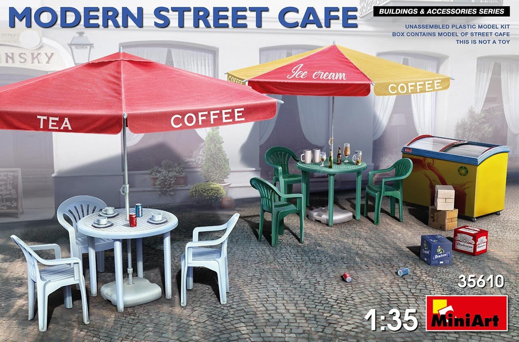Plastic Kits Miniart 1/35 Modern Street Cafe Plastic Model kit