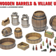 Parts Miniart 1/35 Wooden Barrels & Village Utensils Plastic Model Kit