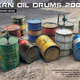 Plastic Kits Miniart 1/35 Modern Oil Drums (200L) Plastic Model Kit