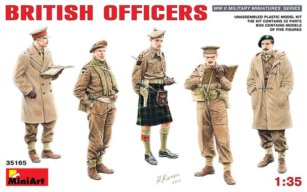 Plastic Kits Miniart 1/35 British Officers Plastic Model Kit