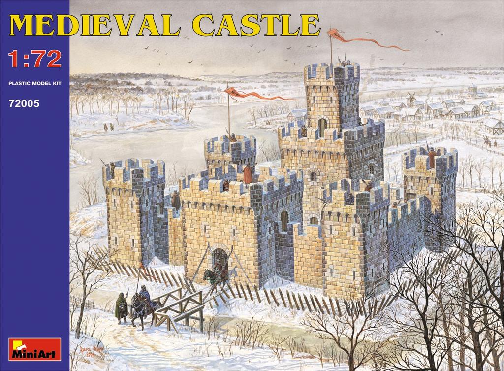 Plastic Kits Miniart 1/72 Medieval Castle Plastic Model Kit