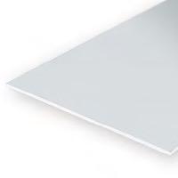 Static Models EVERGREEN 9008 15 X 30cm Sheet Plain White  (Asst Pack)