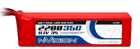 Battery LiPo Nvision Lipo Battery 2200mAh 3S 11.1V 35C (Deans plug)