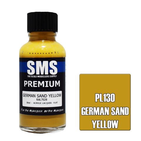 Paint SMS Premium Acrylic Lacquer GERMAN SAND YELLOW RAL7028 (Late War) 30ml