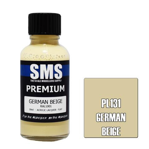 Paint SMS Premium Acrylic Lacquer GERMAN BEIGE RAL1001 30ml