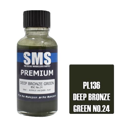 Paint SMS Premium Acrylic Lacquer DEEP BRONZE GREEN BSC NO.24 30ml