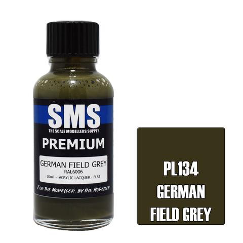 Paint SMS Premium Acrylic Lacquer GERMAN FIELD GREY RAL6006 30ml
