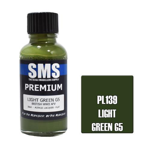 Paint SMS Premium Acrylic Lacquer LIGHT GREEN G5 30ml