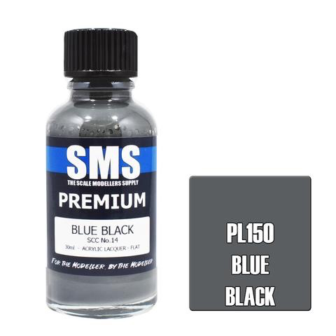 Paint SMS Premium Acrylic Lacquer BLUE BLACK SCC NO.14 30ml