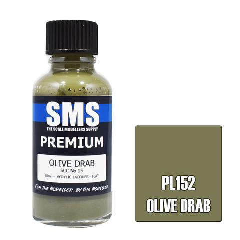 Paint SMS Premium Acrylic Lacquer OLIVE DRAB SCC NO.15 30ml