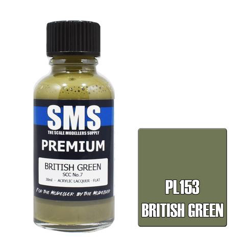 Paint SMS Premium Acrylic Lacquer BRITISH GREEN SCC NO.7 30ml