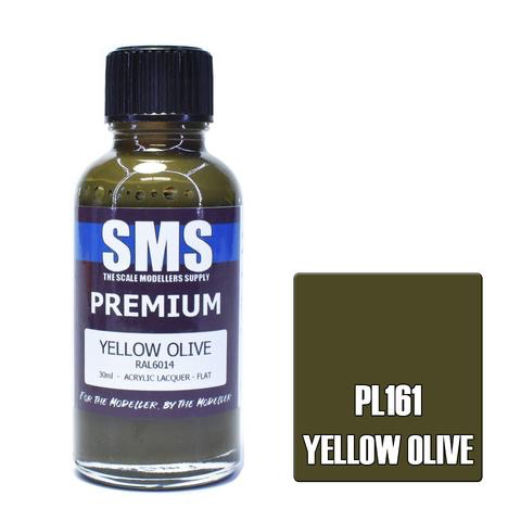 Paint SMS Premium Acrylic Lacquer YELLOW OLIVE RAL6014 30ml