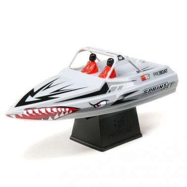 Boats Elect RTR ProBoat Sprintjet Jet Boat, RTR, Silver