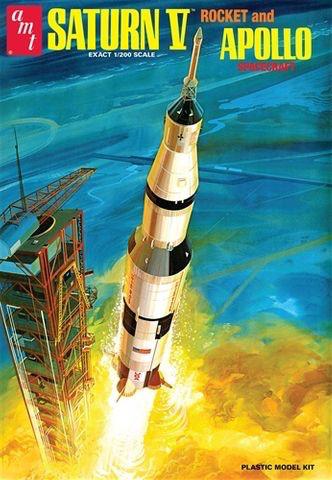 Plastic Kits AMT (h) 1:200 Scale - Saturn V Rocket