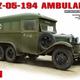 Plastic Kits Miniart 1/35 GAZ-05-194 Ambulance Plastic Model Kit